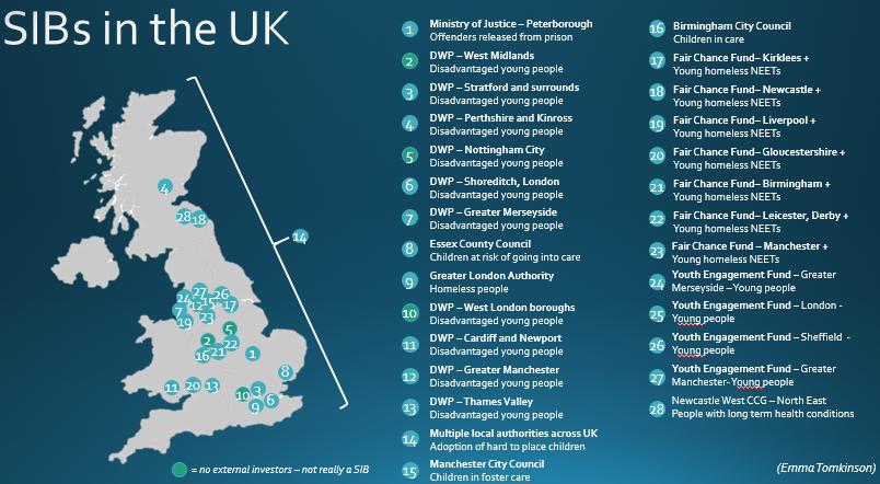 Social Impact Bond SIB UK v world map Emma Tomkinson