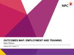 NPC outcomes map - employment
